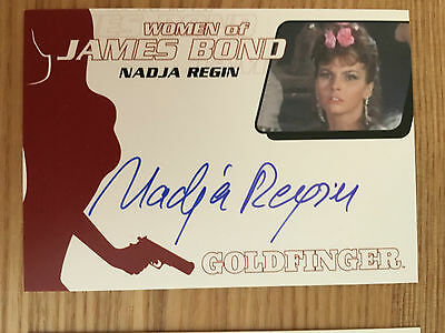 James Bond Archives 2014 Autograph Card Nadja Regin as Bonita WA50