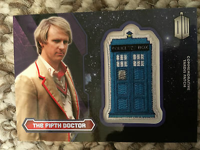 Topps Doctor Who 2015 Purple Tardis Patch Card The Fifth Doctor 30/99