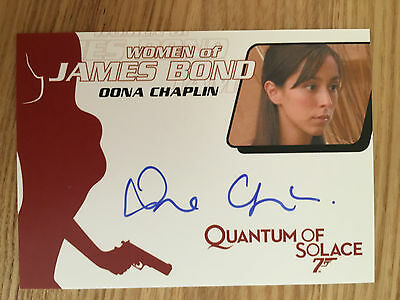 James Bond Archives 2014 Autograph Card Oona Chaplin WA55
