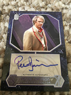 Topps Doctor Who 2015 Purple Autograph Peter Davison as The Fifth Doctor 21/25
