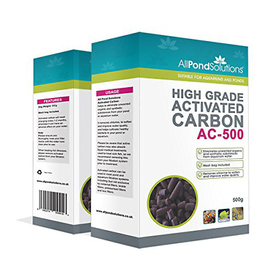 High Grade Activated Carbon AC-500 Fish Tank For Aquariums Removes Chlorine New