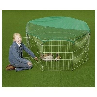 Dog Kennel Pet Outdoor Cage Easy to Set up with Sun Protection Net Cover 55-inch