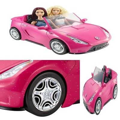 Barbie Glam Convertible Car Doll Mattel Vehicle Hot  And Toy Seats sparkly pink