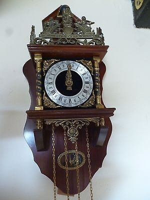 traditional vintage dutch wall clock - good working order-