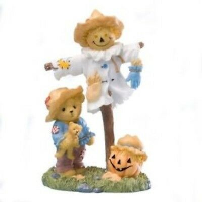 Cherished Teddies*BEAR with SCARECROW*New*NIB*Pumpkin*HALLOWEEN*Saundra*4023638
