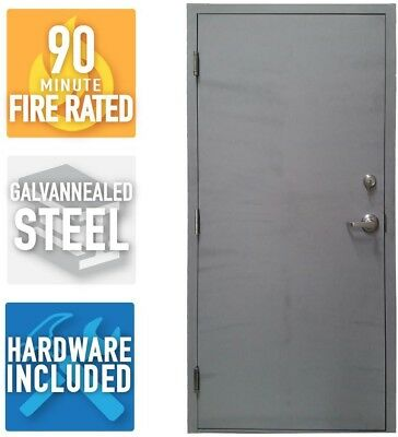 Armor Door Fire-Rated Heavy Duty Welded Steel Frame Commercial Frame Entry Right