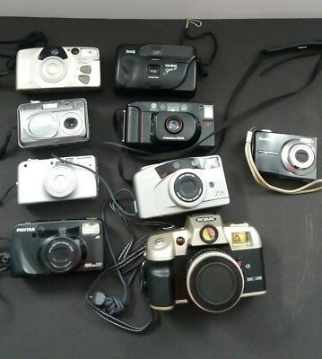 Film Camera Lot Pentax Canon Argus Minolta Used