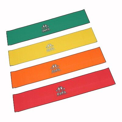 Bundle Sets of Resistance Bands - 4 levels & Sizes Theraband Genuine Latex