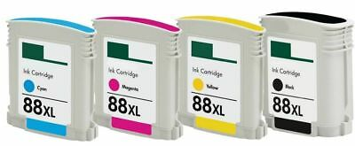 4-Pk/Pack 88XL Ink Cartridges For HP Officejet Pro L7500 L7550 L7580 L7590 L7600