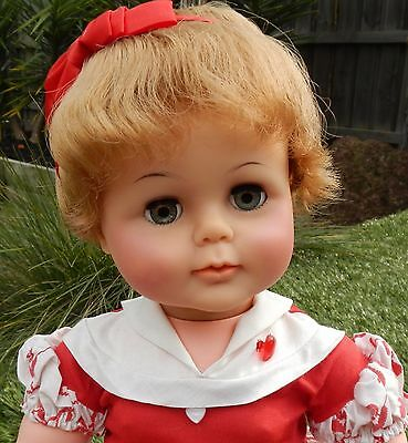 """Vintage 1960's  IDEAL 22""""  KISSY Doll - Redressed"""