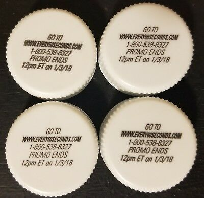 10 Every 60 seconds Mountain Dew caps with unused codes