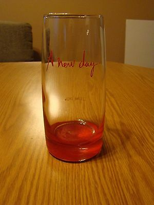 "Celine Dion ""A New  Day"" Red Bottom Tumbler Drinking Glass"