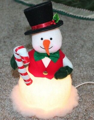 "Vintage light up Frosty the Snowman Christmas 12"" Plastic Felt"