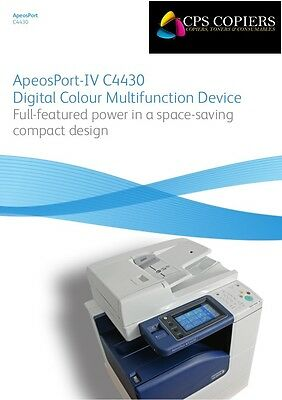 New Xerox Photocopier ApeosPort IV C4430 Colour Digital Copy,Network Print,Scan