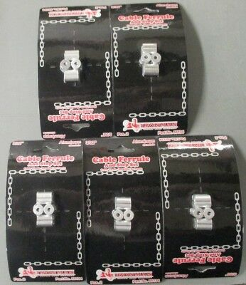 """3/32"""" Cable Ferrule and Stop Set Pack Aluminum By Ironman ( 5 packs of 2ea )"""
