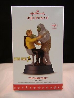 "Hallmark Keepsake Ornament 2016 ""The Man Trap"" - Star Trek - Magic - Sound - NIB"
