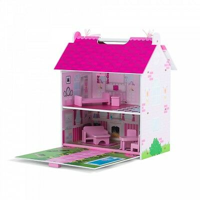 Plum Hove Wooden Dolls House - Dollhouse New