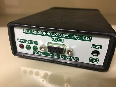 JED J994 Midi to RS232 converter