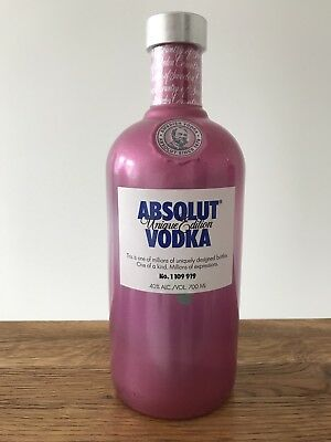 Absolut Vodka Unique # 1 109 919 * Limited Edition 2012 * 700 Ml New & Sealed *