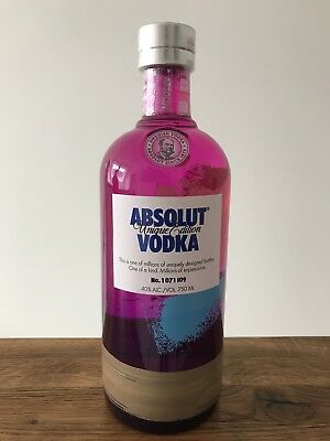 Absolut Vodka Unique # 1 071 109 * Israel Edition 2012 * 750 Ml New & Sealed *