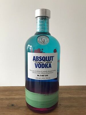 Absolut Vodka Unique # 3 487 250 * Limited Edition 2012 * 700 Ml New & Sealed *