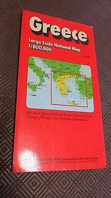 Roger Lascelles Premium Quality Travel Fold out Map GREECE Printed in Germany