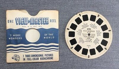 Woody Woodpecker In The Pony Express Ride, 1951, Vintage View master Reel # 820
