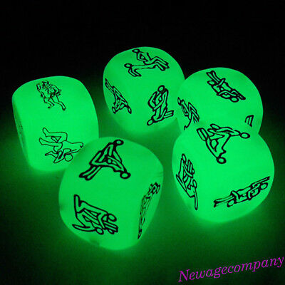 Luminous Cube Lovers Dice Adults Sex Game Glowing Couple Party Humour Games Toy