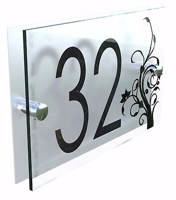 Decorative House Signs Plaques Door Numbers 1 - 999 Personalised Name DEC-27B-S