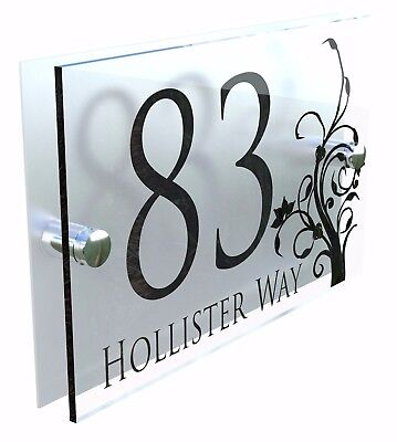 Decorative House Signs Plaques Door Numbers 1 - 999 Personalised Name DEC-28B-S