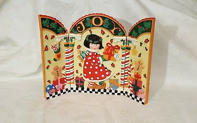 Vtg Mary Engelbreit Ink Christmas Collection Christmas Screen Joy For You