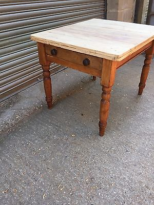 Small 19th Century Pine Kitchen Table