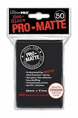 Ultra Pro SLEEVES Pro-Matte d12 Card Game Black