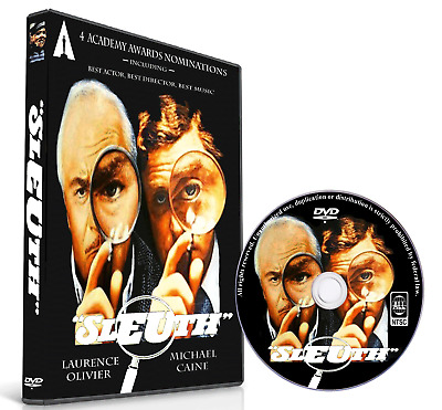 SLEUTH 1972 - with LAURENCE OLIVIER, MICHAEL CAINE - WIDESCREEN
