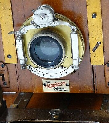 Sanderson Camera - Half Plate - With Original Lens - In Great Shape