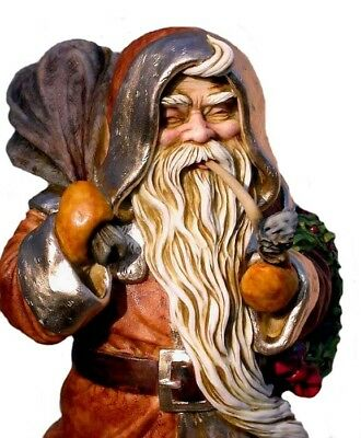 Harmony Kingdom Artist Neil Eyre Designs Father Christmas Santa pipe LE16 b/gold