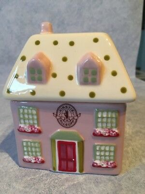 Kirstie Allsopp Pink And Cream Ceramic House Trinket Box