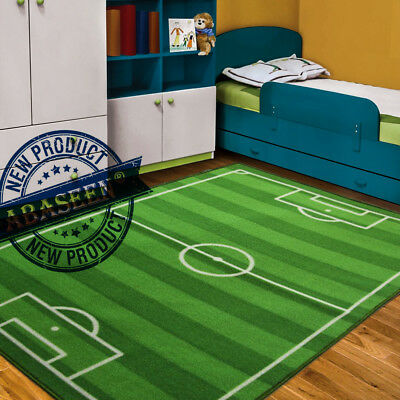 Kids Baby Football Field Play Mat Medium Small Large Soft Football Carpet Rug