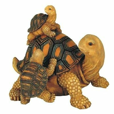 Family of tortoises Garden decoration collectible figure Statue, 7-Inch High