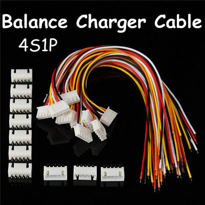 Excellway 4S1P 10pcs Balance Charger PVC Cable Wire Connector Male/Female Plug