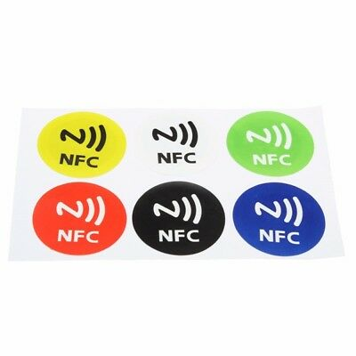 6pcs Waterproof NFC Tags NTAG213 Chip RFID Adhesive Label Sticker for all NFC Mo