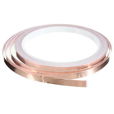 Foil Tape Single Sided Conductive Self Adhesive Copper Heat Insulation 6mm x10m