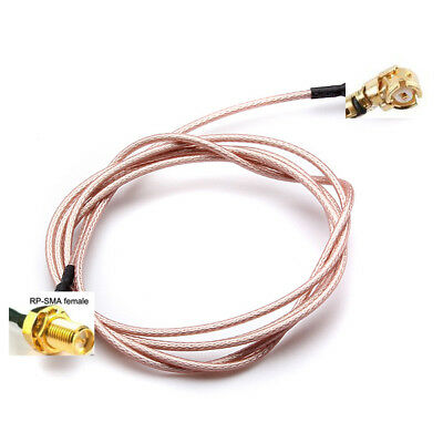 100cm Extension RP SMA Female Bulkhead To U.FL IPX Connector Pigtail Cable