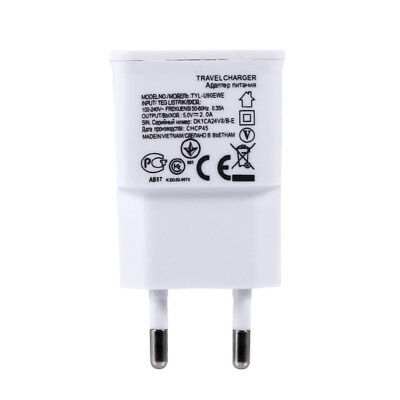 Universal Dual USB EU plug 5V 2A Wall Travel Power Charger Adapter