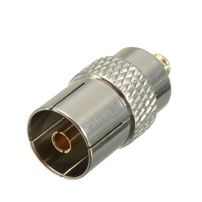 MCX Male Plug to Coax Coaxial Female Socket TV Antenna Aerial Adapter Converter