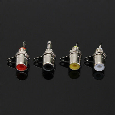 4PCS RCA Terminals Audio Chassis Panel Mount Socket Connector