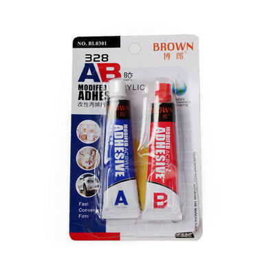 Brown 328 16ml AB Modified Acrylic Adhesive Glue Super Sticky for Plastic Leathe