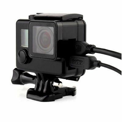 Black Protective Housing Case Cover USB Video Port Side Open For GoPro Hero 4 3