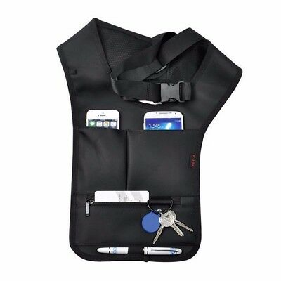 EDC Anti Theft Hidden Underarm Holster Black Nylon Bag Multifunction Inspector S