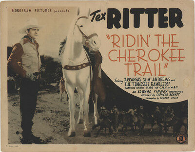 Ridin' the Cherokee Trail 1941 11x14 Orig Lobby Card FFF-35179 Tex Ritter Wes...